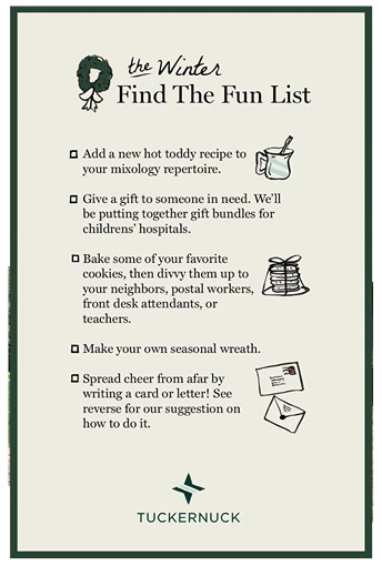 the winter find the fun list