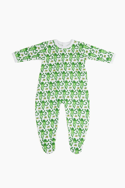 infants monkey pajama suit