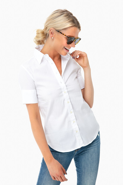 white short sleeve essentials shirt