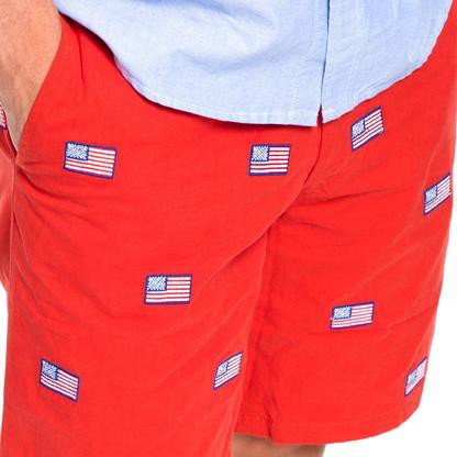 american flag cisco shorts