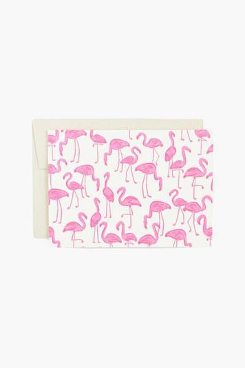 pink flamingos! card