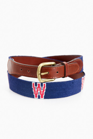 washington senators cooperstown needlepoint belt