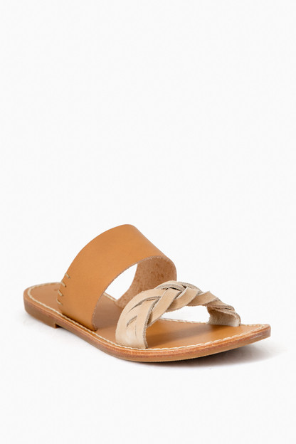 braided slide sandal