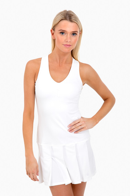 henley pleated tennis dress