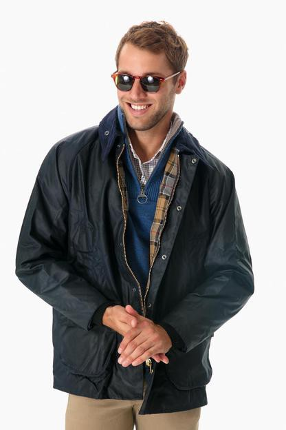 barbour men's navy bedale jacket