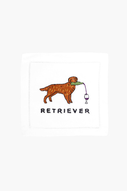 retriever cocktail napkins (set of 4)