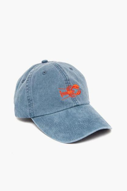 midnight embroidered lobster hat