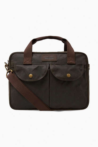 barbour olive longthorpe laptop bag