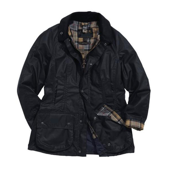 navy beadnell wax jacket