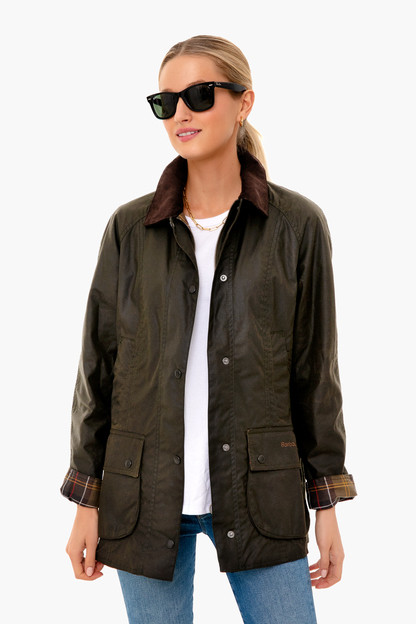 classic olive beadnell wax jacket