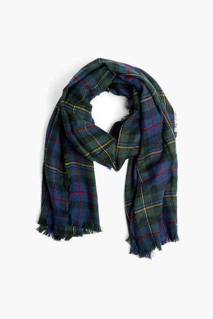 hunter green yorkshire check scarf