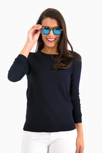 navy carolina crewneck sweater
