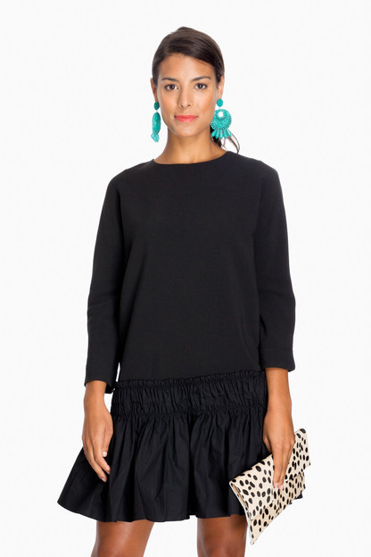 Phoebe Black Shift Ruffle Dress