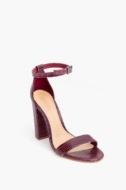 red crocodile enida heels