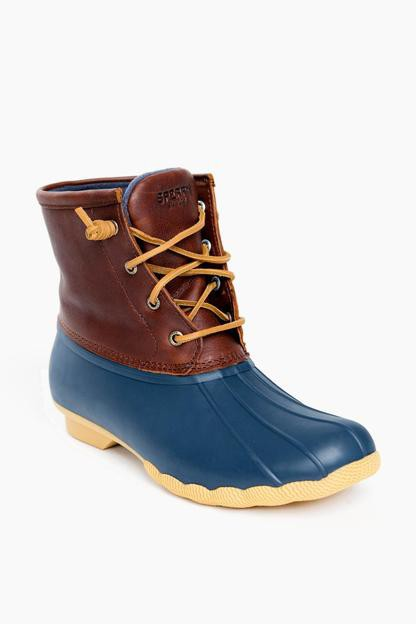 women's navy thinsulate saltwater duck boots