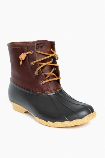 women's brown thinsulate saltwater duck boot