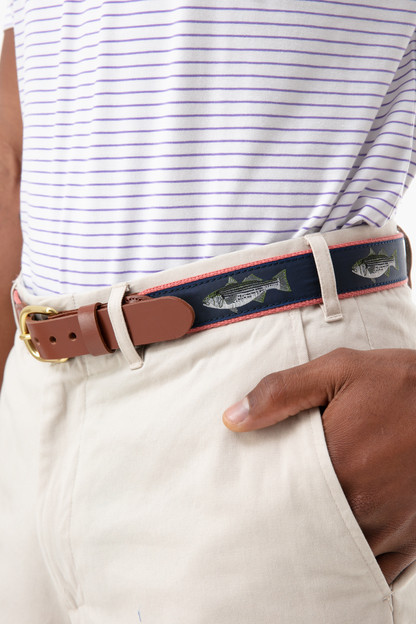 striper tab & buckle motif belt