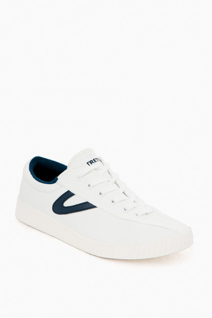 women's navy nylite canvas sneakers