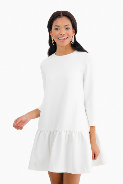 White Sutton Peplum Dress