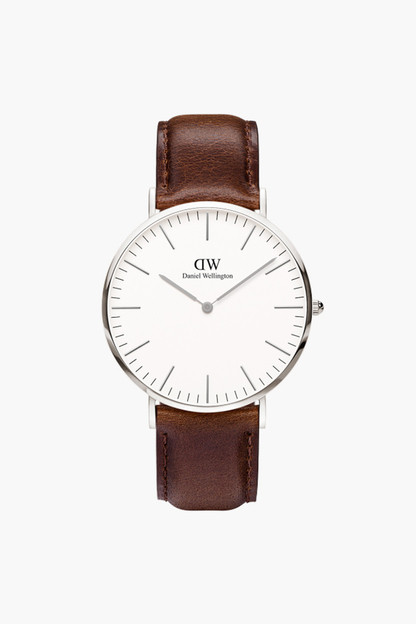 Classic 40mm Silver Bristol Watch