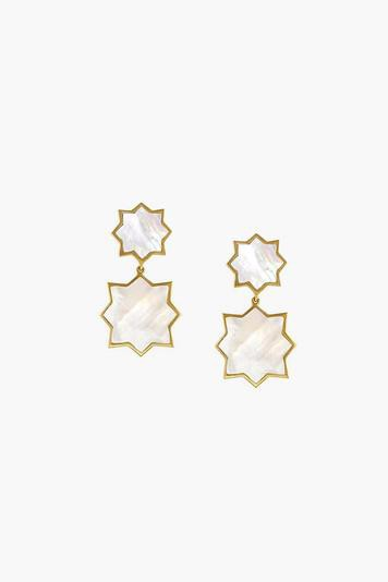mother of pearl double kismet earrings