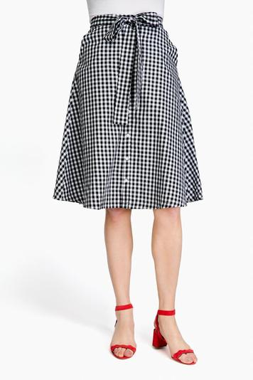 channing gingham skirt