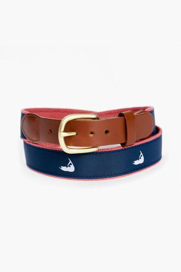 nantucket island tab & buckle motif belt