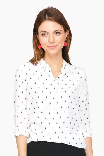 ditsy bugs essential silk shirt