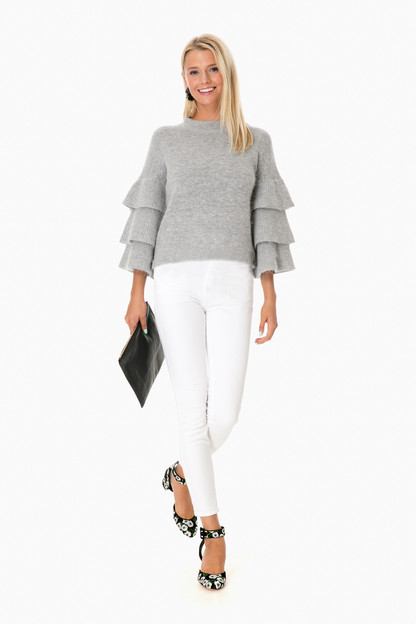 bradley ruffle sleeve sweater