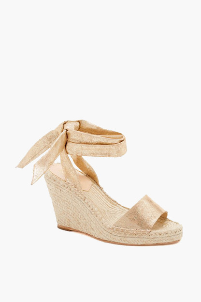 Crackle Metallic Harper Espadrilles