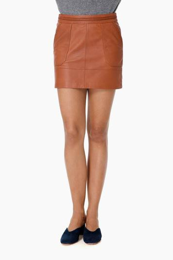 la brea terra mini vegan leather skirt