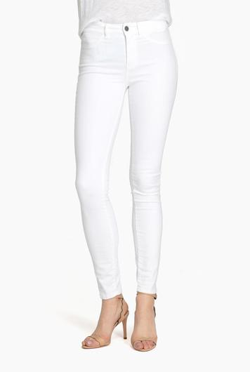 bodycon skinny jeans in power white