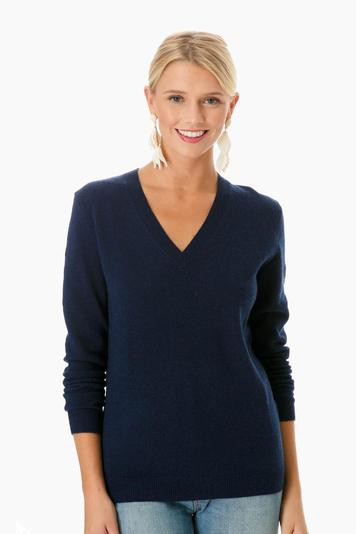 admiral heather cashmere v-neck sweater