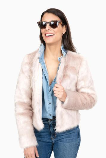 soft pink one love coat