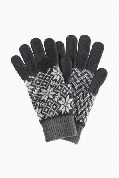 fairisle lambswool gloves
