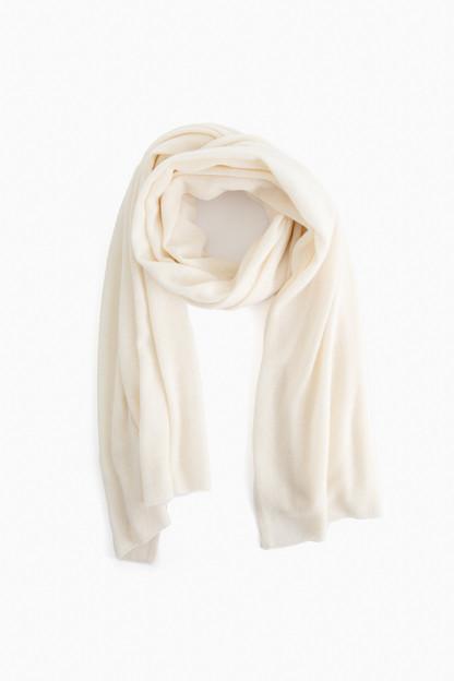 pearl white cashmere travel wrap
