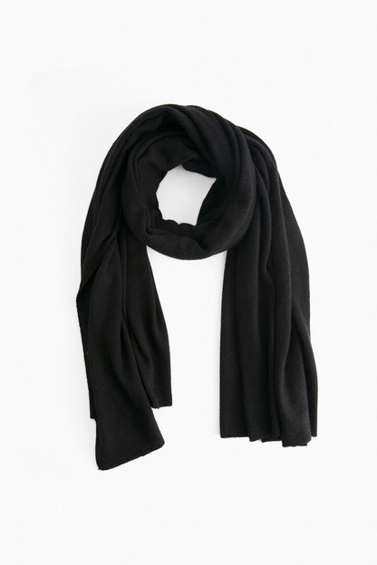black cashmere travel wrap