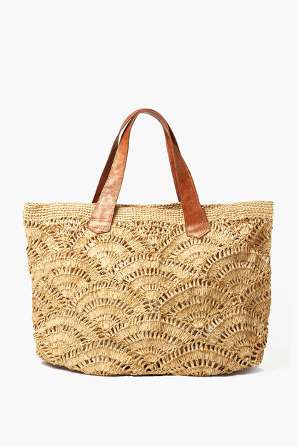 natural tulum crocheted tote