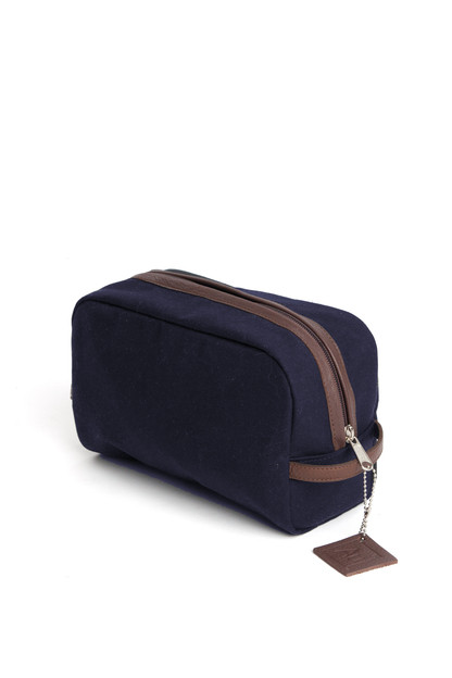navy sailwax dopp kit