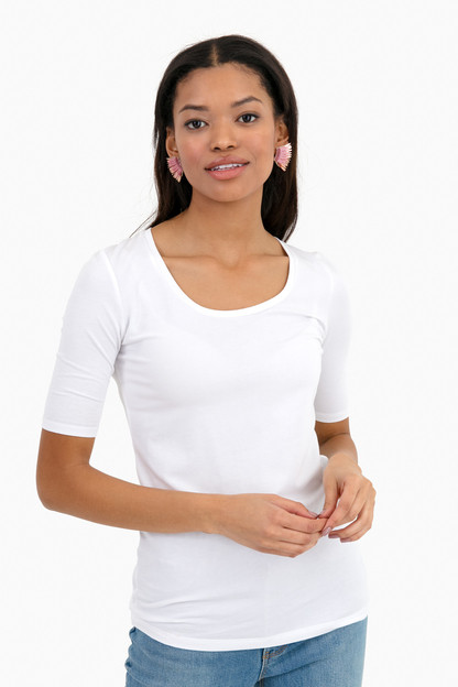 white kayla scoopneck t-shirt