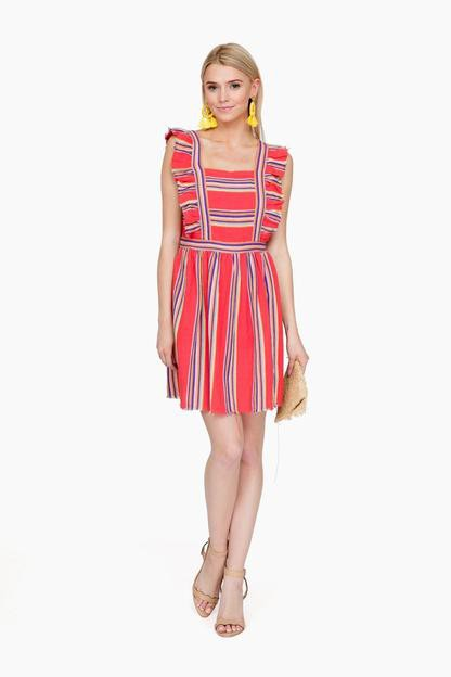 southwestern stripe malibu dress