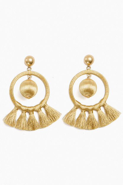 gold dreamcatcher earrings