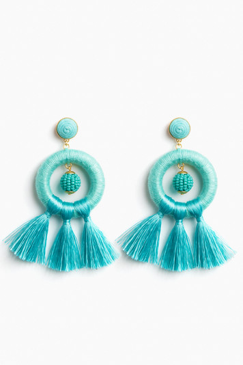turquoise birds of paradise earrings