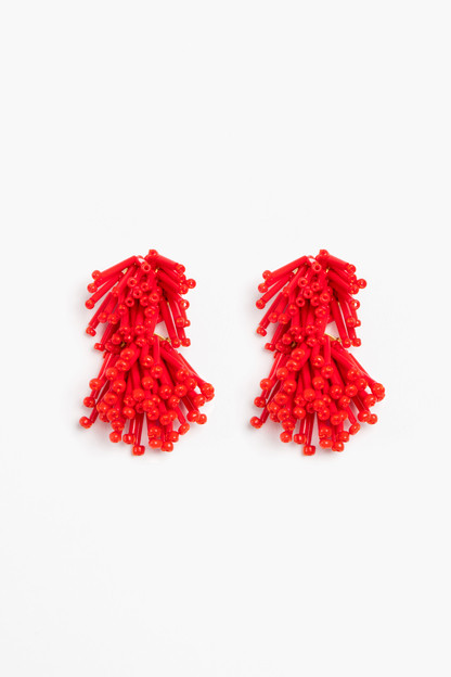 Coral Fireworks Earrings