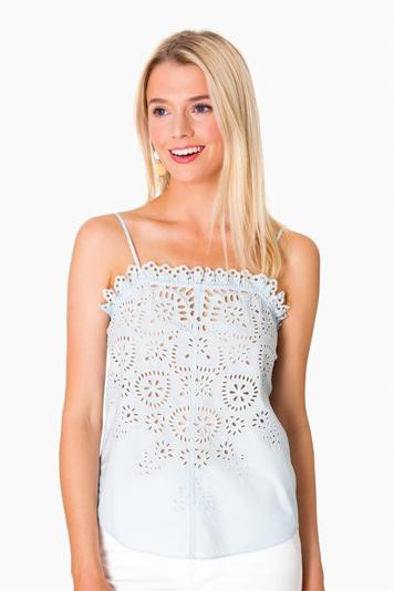 sleeveless annabel eyelet top