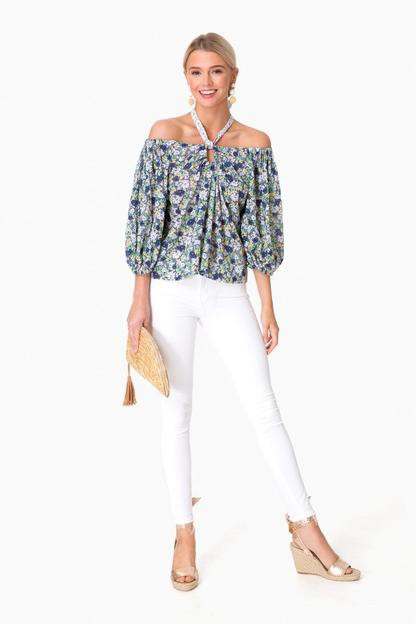 off the shoulder fleur suzette top