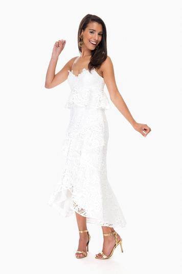 white wildflower lace holly dress
