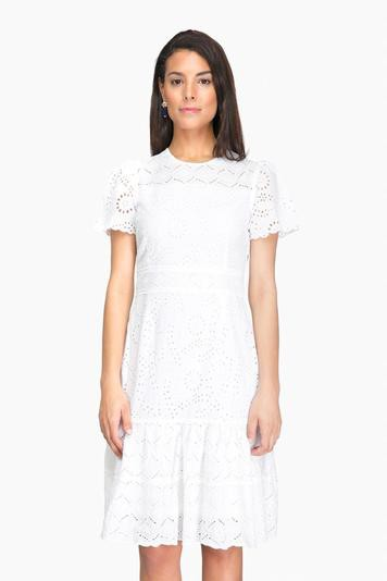 white eyelet chloe dress