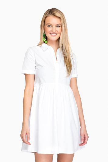white kinsey shirt dress