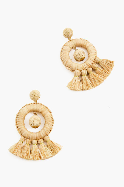 Raffia Dreamcatcher Earrings
